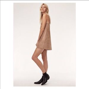 Aritzia Dresses - RARE Aritzia Wilfred Vivienne Suede Cami Dress Red